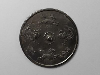 瑞花鳳凰麒麟猊紋鏡