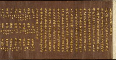 紫紙金字金光明最勝王経 巻第七