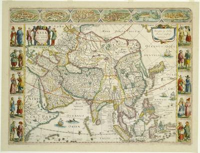 アジア図および都市・民族図