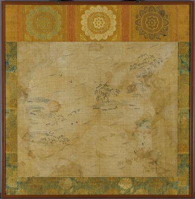 麻布山水図