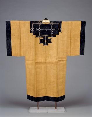藍・浅葱布切伏萌葱・白糸縫取アットゥシ