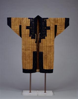 縞藍布切伏萌葱糸縫取アットゥシ