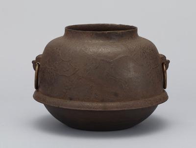 梅竹の図真形釜