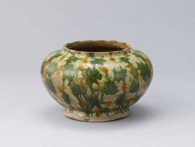 奈良三彩壺