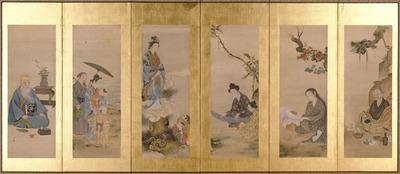 琉球風俗図屏風