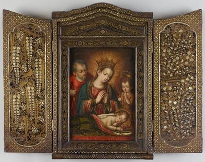 花鳥蒔絵螺鈿聖龕