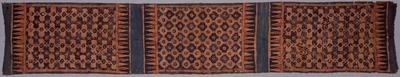 藍地メダイヨン繋文様更紗装飾布