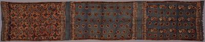 藍地丸文・植物文様更紗装飾布