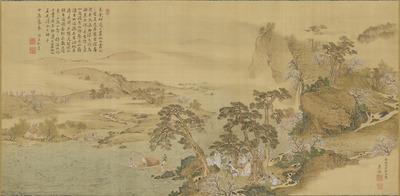 仙山観花図