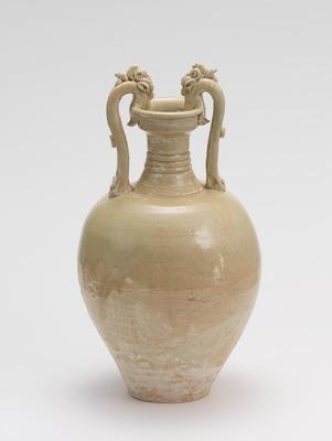 白釉龍耳瓶