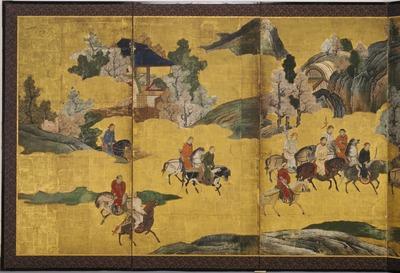 韃靼人狩猟図屏風
