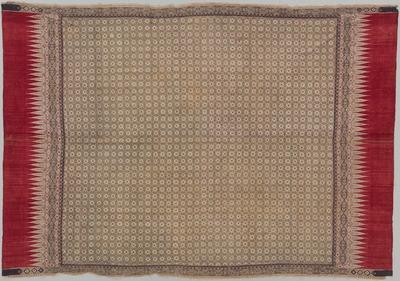 幾何形結び文様更紗装飾布